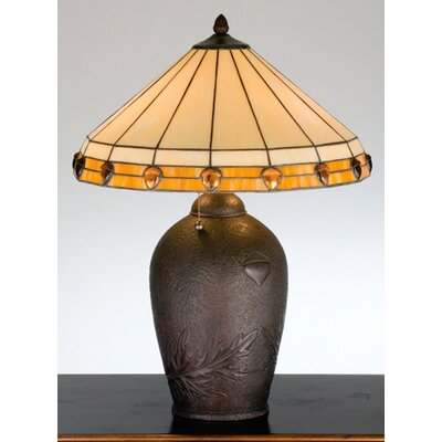 Meyda Tiffany Rustic Lodge Acorn Jewel Table Lamp