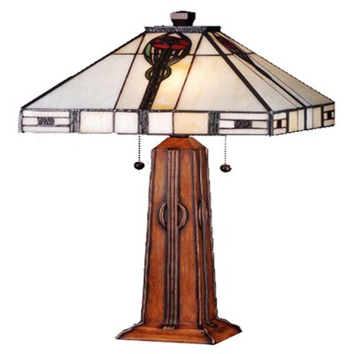 Meyda Tiffany Parker Poppy Table Lamp