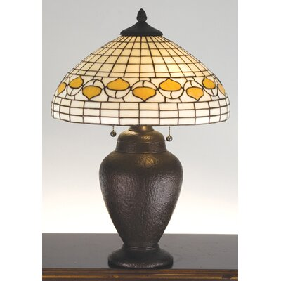 Meyda Tiffany Rustic Lodge Tiffany Acorn Table Lamp