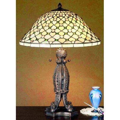 Meyda Tiffany Diamond and Jewel Table Lamp