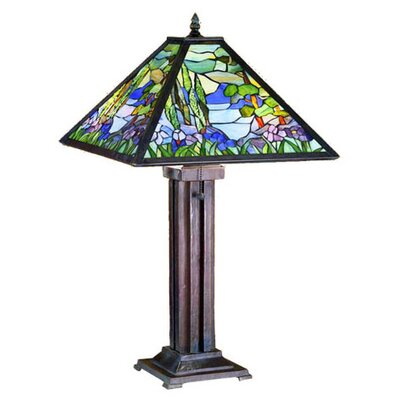 Meyda Tiffany Mosaic Garden Table Lamp