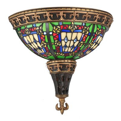 Meyda Tiffany Fleur-De-Lis 2 Light Wall Sconce