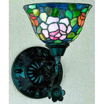 Meyda Tiffany Victorian Tiffany Rosebush 1 Light Wall Sconce