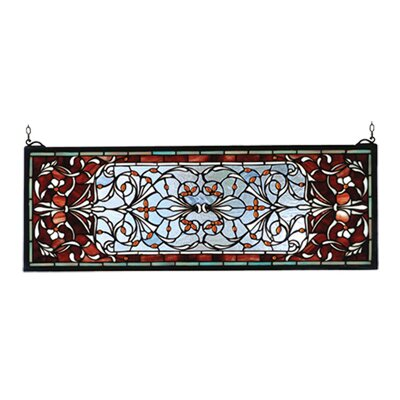 Meyda Tiffany Victorian Tiffany Nouveau Versaille Transom Stained Glass Window