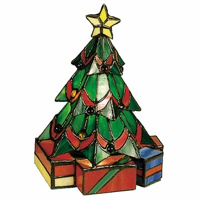 Tiffany Holiday Christmas Tree Accent Table Lamp