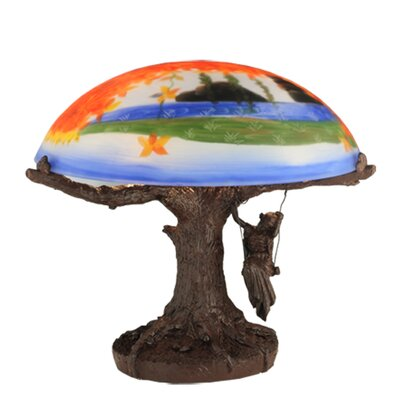Meyda Tiffany Maxfield Parrish Reveries Reverse Painted Table Lamp