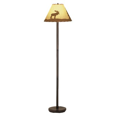 Meyda Tiffany Rustic Lone Moose Floor Lamp