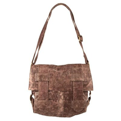Latico Leathers Avion Regina Large Cross-Hatch Shoulder Bag