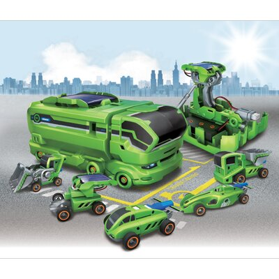 OWI Robots 7 in 1 Rechargeable Solar Transformers Vehicle Set