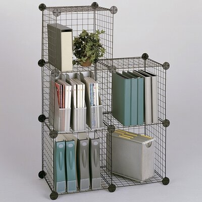 Safco Wire 3 Shelf Shelving Unit