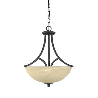 Tackwood 3 Light Inverted Pendant