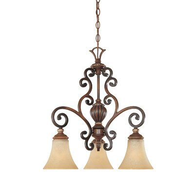 Designers Fountain Montreaux 3 Light Down Chandelier