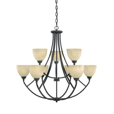 Designers Fountain Tackwood 9 Light Chandelier