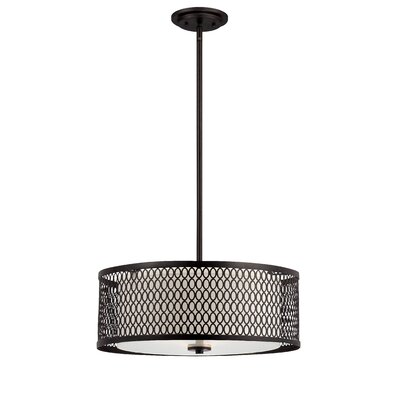 Designers Fountain Continental 3 Light Drum Pendant