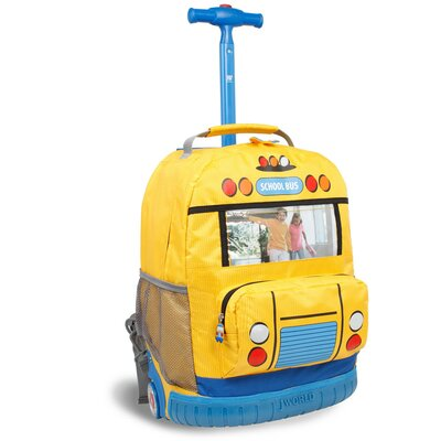 School Bus Rolling Backpack