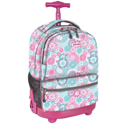 Sunshine Double Pocket Rolling Backpack