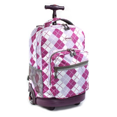J World Sunrise Rolling Backpack