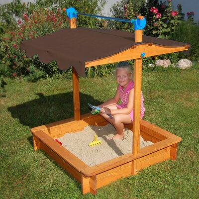 Exaco Felix 3' Rectangular Sandbox with Cover