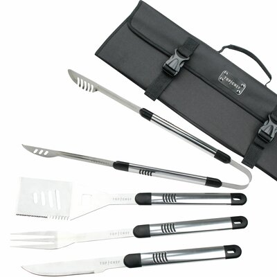 Top Chef Stainless Steel 5 Piece BBQ Set