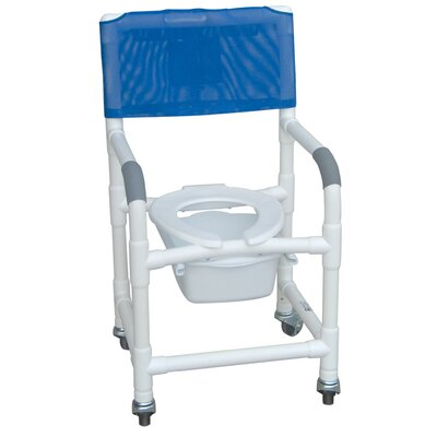 Standard Deluxe Shower Chair with Slide Out Commode Pail with Optional Accessories
