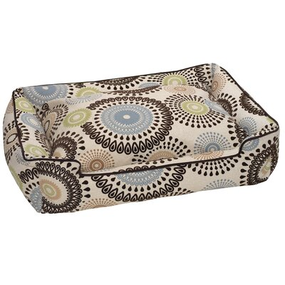 Jax & Bones Flocked Lounge Bolster Dog Bed
