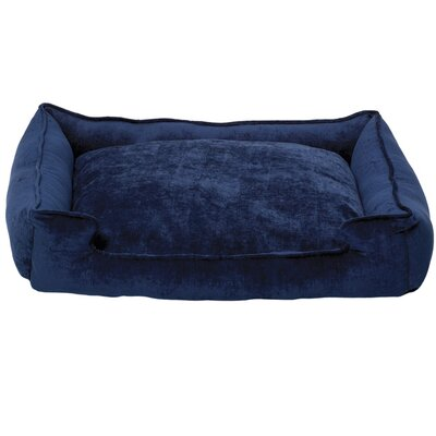 Micro-Velvet Lounge Dog Bed in Twilight