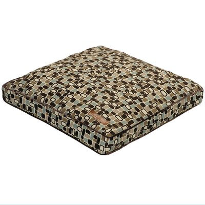 Jax & Bones Flocked Pillow Dog Bed in Pebbles