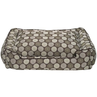Jax and Bones Medallion Lounge Bolster Dog Bed
