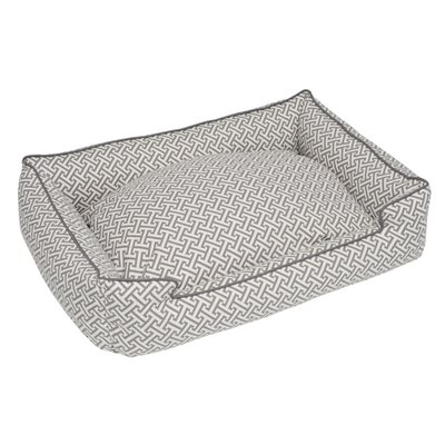 Jax and Bones Hera Grey Everyday Lounge Bolster Dog Bed