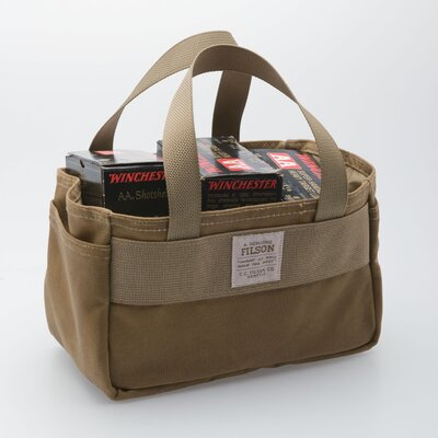 Filson Tin Cloth Shot Shell Bag in Dark Tan
