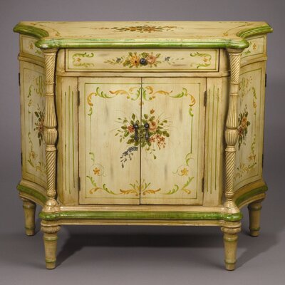 AA Importing Side Cabinet in Antique Ivory