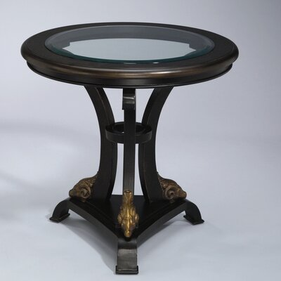 Round foyer table wayfair for Table insert th