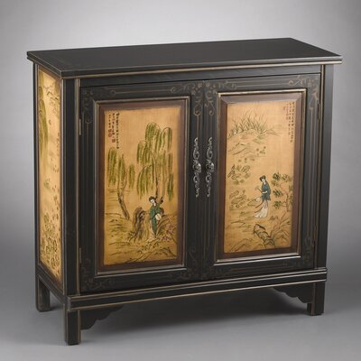 AA Importing 1 Door Cabinet with Oriental Lady Design