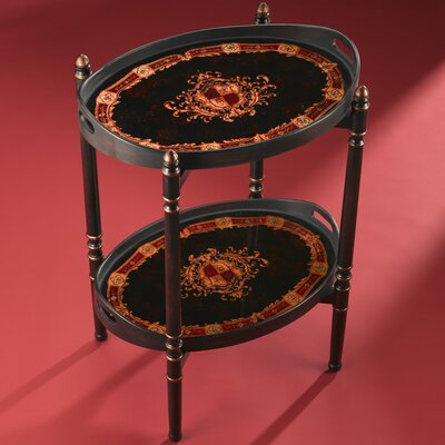 AA Importing Two Tier Oval End Table