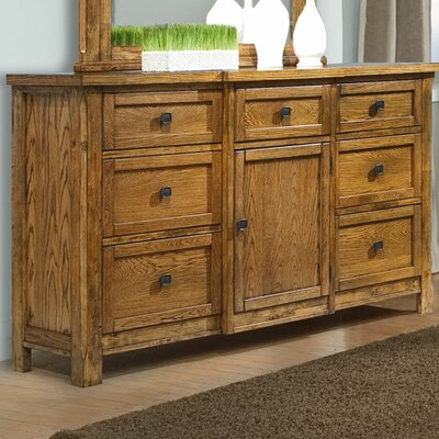 Ranchero 6 Drawer Combo Dresser
