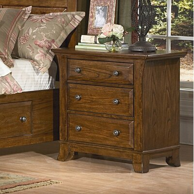 kathy ireland Home by Vaughan Pilgrimage 3 Drawer Nightstand