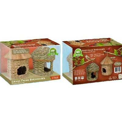 Hugs Pet Products Eco Bird House and Feeder (2 Pack)