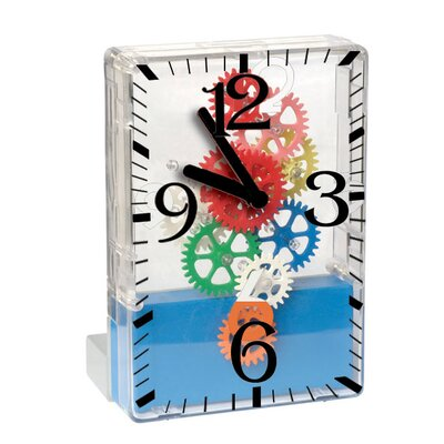 "Maples Clock 5.3"" x 3.7"" Moving Gear Desktop Clock"