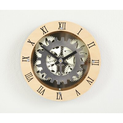 """Maples Clock 12"""" Moving Gear Wall Clock with Wooden Dial Ring at Sears.com"""