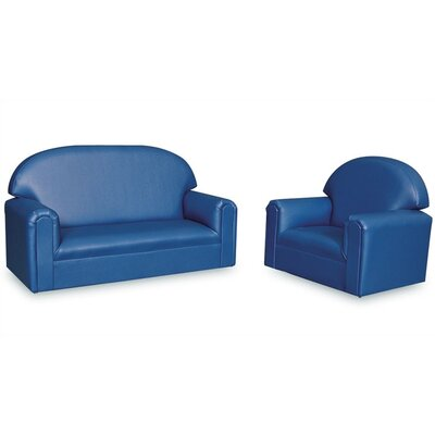 "Brand New World ""Just Like Home Vinyl Upholstery Sofa and Chair Set (Toddler, Preschool, School Age)"