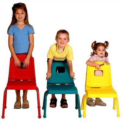 Mahar Creative Mix and Match 14&quot; Plastic Classroom Stacking Chair