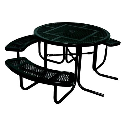 Ultra Play 3-Seat ADA Round Picnic Table with Perforated Pattern