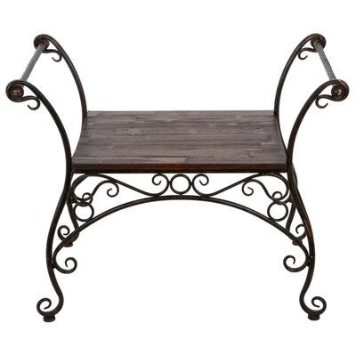 Privilege Iron and Wood Garden Bench