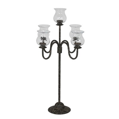 Privilege Iron and Glass Candelabra