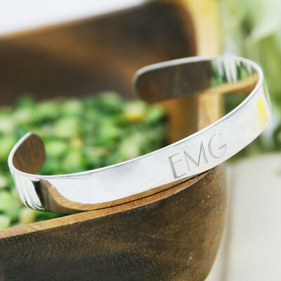 Personalized Slim Cuff Bracelet