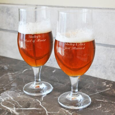 Cathys Concepts Custom Stemmed Pilsners Glass (Set of 2)