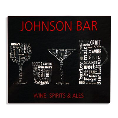 Wine, Sprits and Ale Bar Sign
