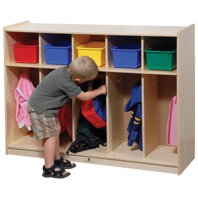 Steffy Wood Products Five-Section Toddler Locker Unit