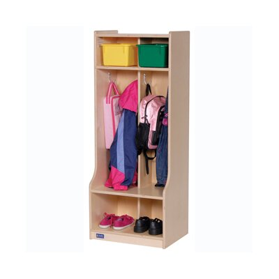 Steffy Wood Products Two Section Locker with Seat/Step