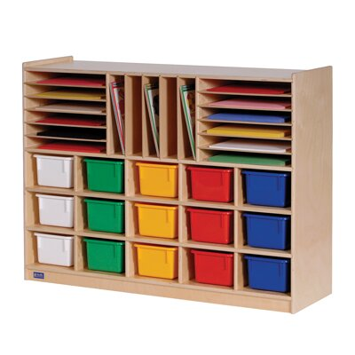 Steffy Wood Products Multi-Section Mobile Storage Cabinet